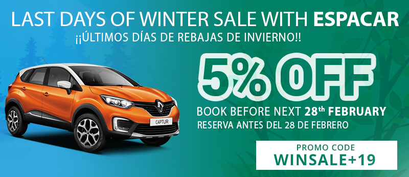 Last days of Winter Sale with Espacar!