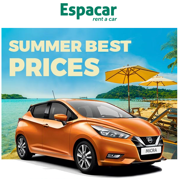 Summer Best Prices in Espacar Rent a Car
