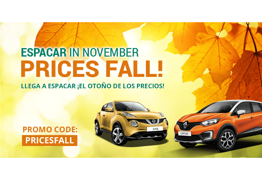 Espacar in November: Prices Fall!